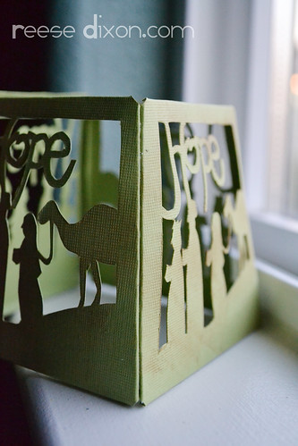 Papercut Nativity Tree Tutorial Step 4