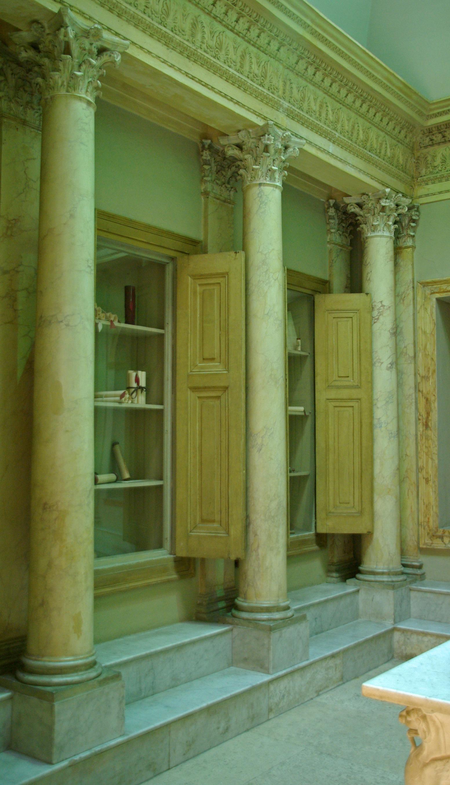 Reconstrucció d'una biblioteca privada, Museo della Civiltà Romana, Roma (Flickr de S.Giralt)