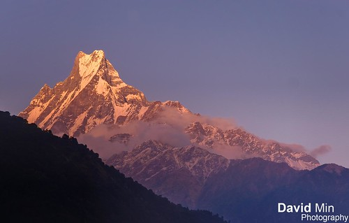 "Annapurna, Nepal - Sunset over ""Fish Tail"""