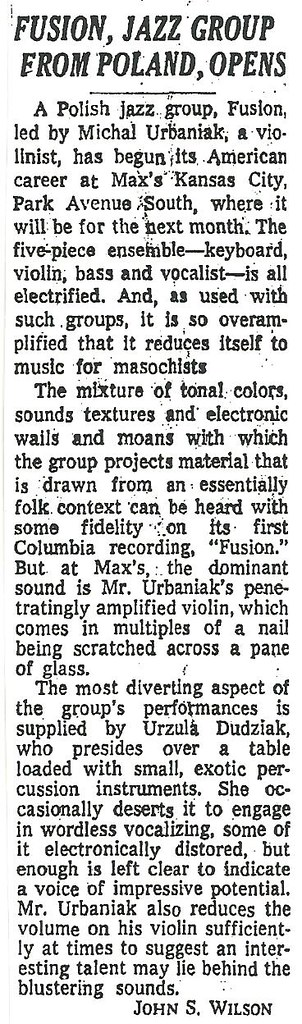 05-14-74 NYT Review - Fusion @ Max's Kansas City