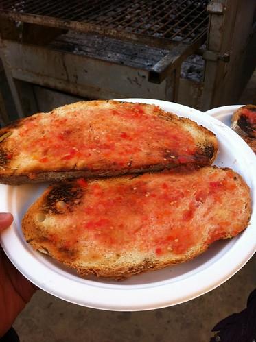 Espinelves | Fira de l'Avet | Pan con tomate