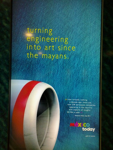 Mexican tourism campaign in Heathrow T3