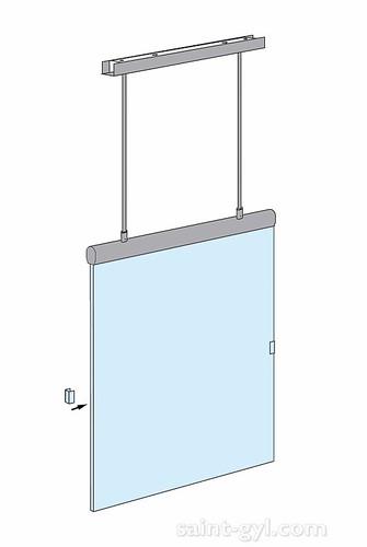 porte-affiche extra-plat lumineux suspendu par tubes sch 007