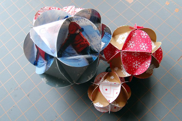 Paper Ball Christmas Decorations Best Paper Ball Ornament Tutorial  Maker Mama Decorating Inspiration