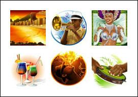 free Samba Nights slot game symbols
