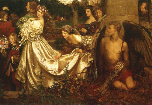 "Eleanor Fortescue-Brickdale (1872-1945), ""The Uninvited Guest"""