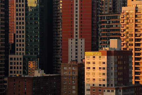 light over Midtown Manhattan
