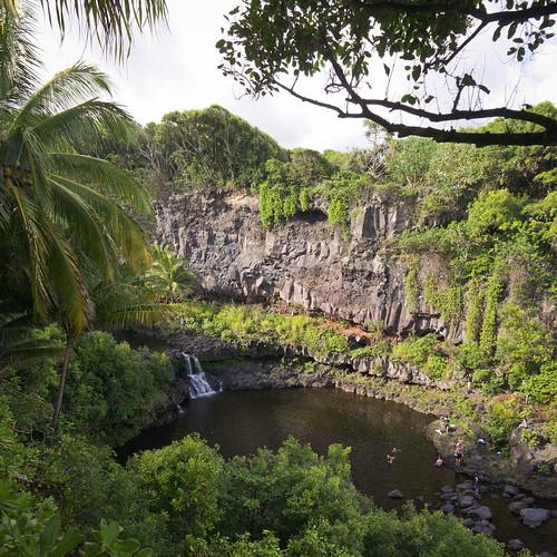 Kipahulu Area, Haleakala National Park, Maui, Hawai'i (vertorama)