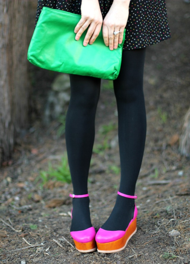 polkadot bag and shoes