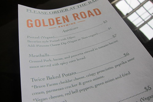 Golden Road Brewing: Menu