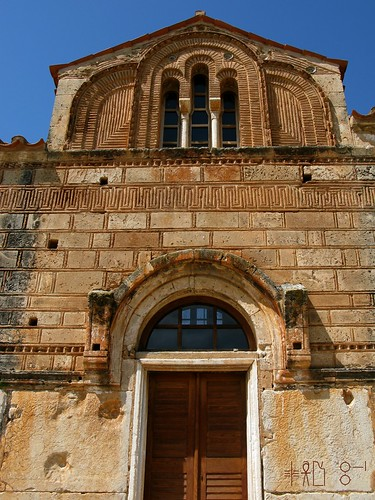 South door of the Byzantine church in Aghia Triada, Argolid, April 2011