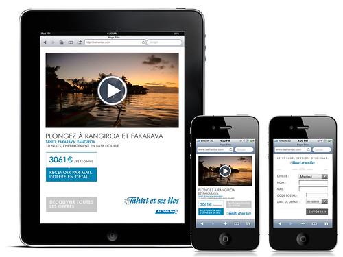 Campagne Tahiti et ses îles - mini-site iPhone/iPad