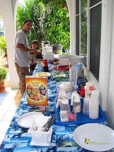 hotel breakfast in san pedro ambergris caye belize