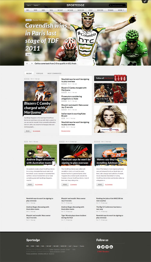 sportedge-wordpress-theme