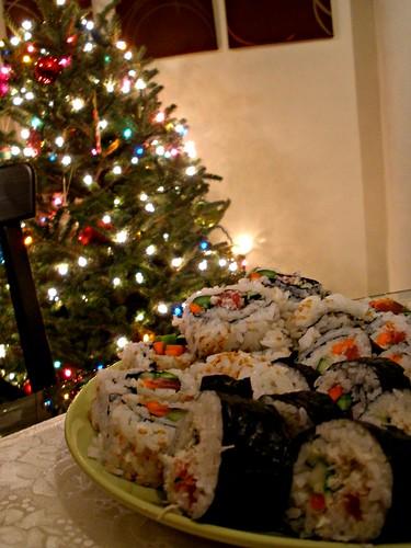 christmas sushis