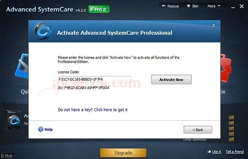 IObit Advanced SystemCare 4.2 License key