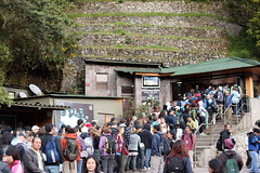 Queue to enter Machu Picchu