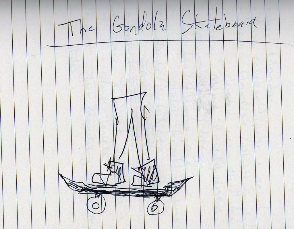 Original Sketch of The Gondola Skateboard