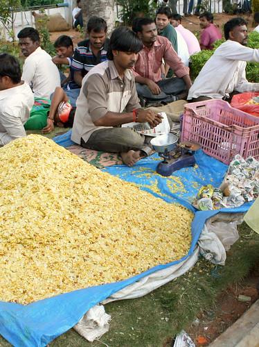 Indian street food seller