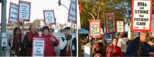 Long Beach, Sutter RNs striking