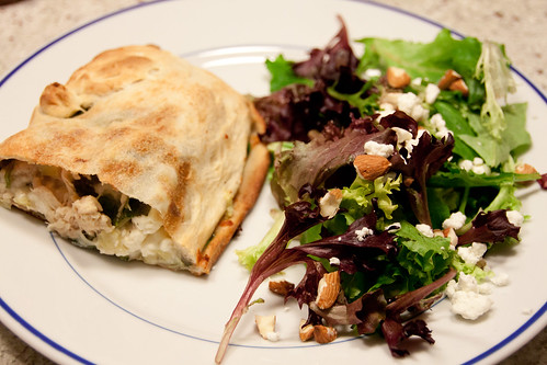 Chicken, Artichoke, and Spinach Calzone