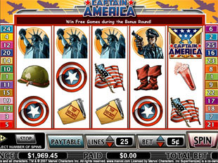 Captain America slot game online review