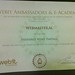 Webmaster.al Award from Webit Congress