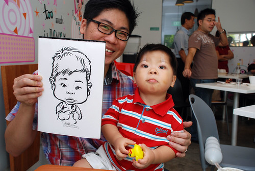 caricature live sketching for birthday party 2nd Oct 2011 - 13a