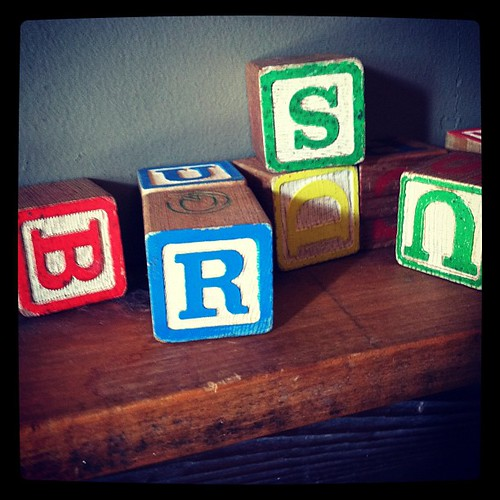 Alphabet blocks #color