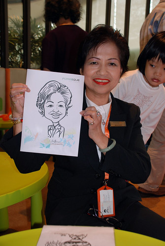 caricature live sketching for Foresque Residences Roadshow - Day 2 - 23