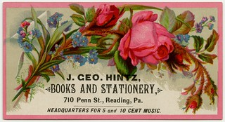 J. Geo. Hintz, Books and Stationery, Reading, Pa.
