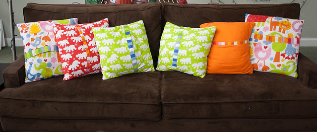 Back of the pillows