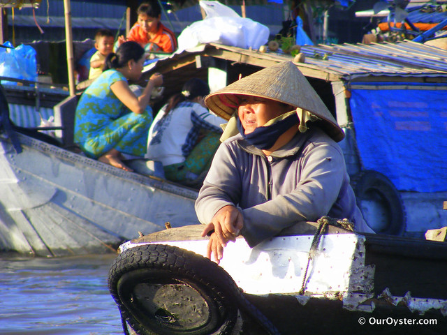 photo of Floating market Vietnam
