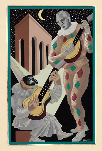 006-Serenata a la luna-Gino Severini-Copyright Wolfsonian-Florida International University
