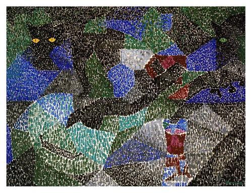 016- El gato negro 19111- Gino Severini