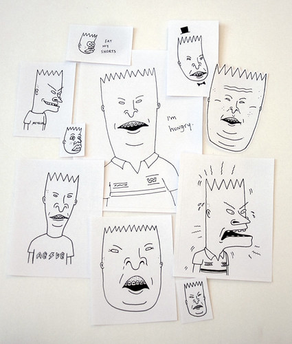 beavis/butthead/bart stickers