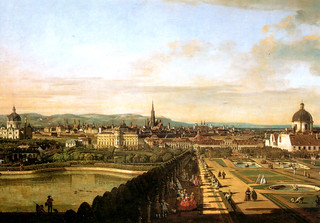 Vienna - View from Belvedere, by Bellotto