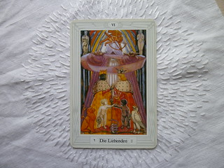 Yay!! This is the card I got for 2012!!  The Lovers... Fits! See last picture :-) We draw cards now for some ten years...