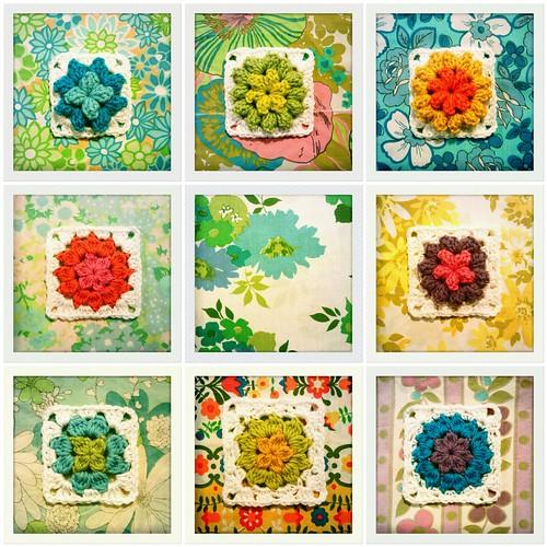 337-344::365 popcorn & cluster flower squares