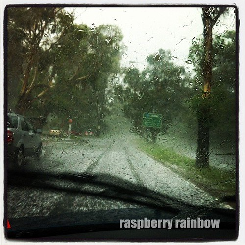 Driving through the crazy hail storm.