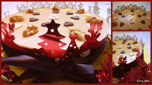 Tarta turron collage
