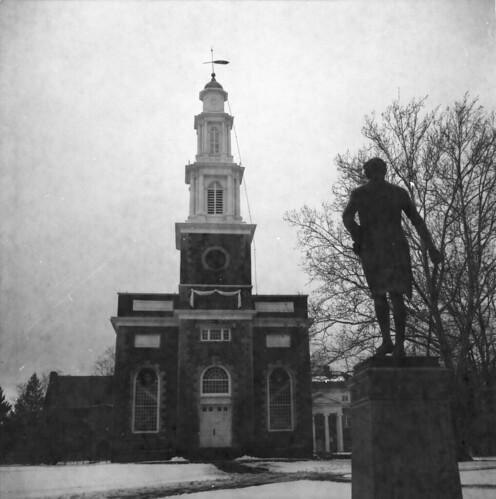 Hamilton College Chapel and statue of Alexander Hamilton, Svema film