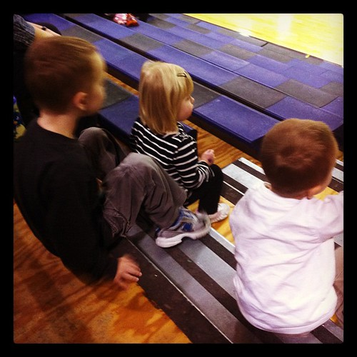 Watching their uncle where he watched their moms.