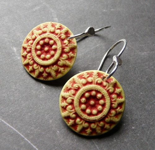 Porcelain Earrings - Cottage Medallions