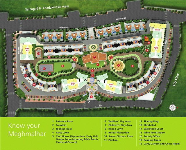Layout Plan of DSK Meghmalhar Phase 2, 1 BHK & 2 BHK Flats at DSK Vishwa, Dhayari Gram Panchayat, off Sinhagad Road, Pune 411 041
