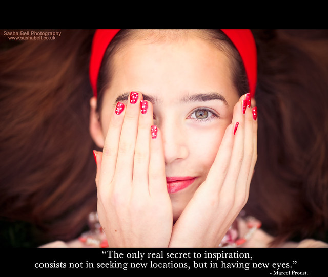"""The only real secret to inspiration consists not in seeking new locations, but in having new eyes."""