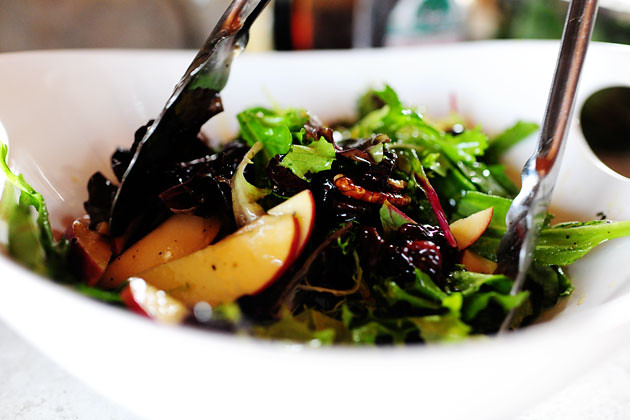 Apple, Pecan, and Blue Cheese Salad with Dried Cherries ...