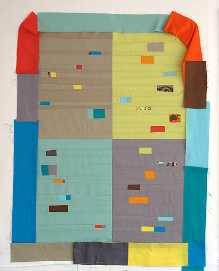 Bits and Pieces Quilt - Testing pieced binding