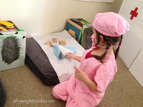 pink kids scrubs