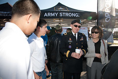 Crowds explore Army Strong Zone